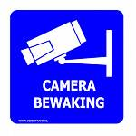 Camera Bewaking Sticker XL